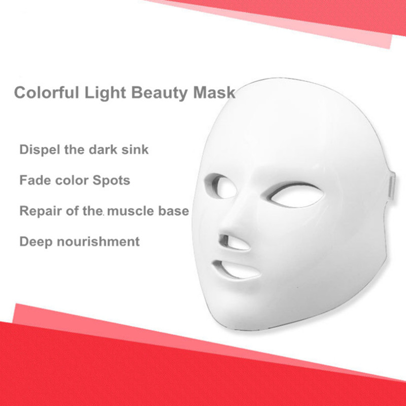 Face care 7 Colors Light Photon LED Facial Mask Skin Rejuvenation Beauty Therapy Beauty Instrument LED Facial Mask face massage
