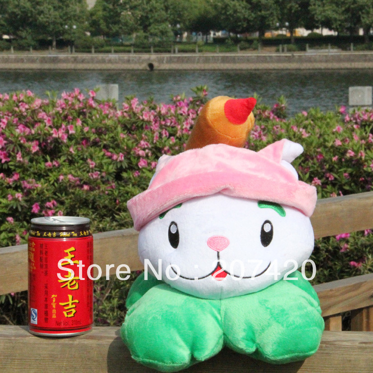 hot selling lovely child gift plant vs zombie plush cattails 15cm/6inch,1pcs/pack