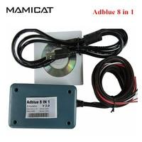 Adblue Emulador 8 en 1 Camión Escáner Herramientas Ad azul 8-en-1 caja 8en1 adblue para Camiones Pesados r-enault OBDII Herramienta de Diagnóstico Del Escáner