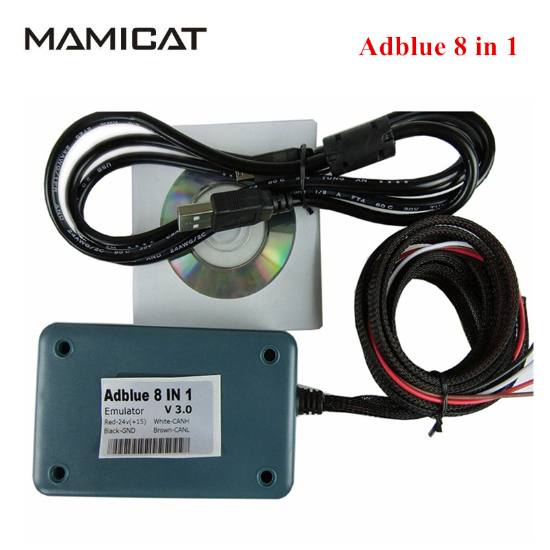 Adblue Emulator 8 in 1 Truck Scan Tools Ad blue 8-in-1 Box OBDII 8in1 adblue for R-enault Heavy Trucks Diagnostic Tool Scanner