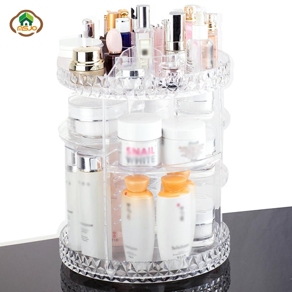 Msjo maquillage organisateur 360 rotatif boîte de rangement pour ...