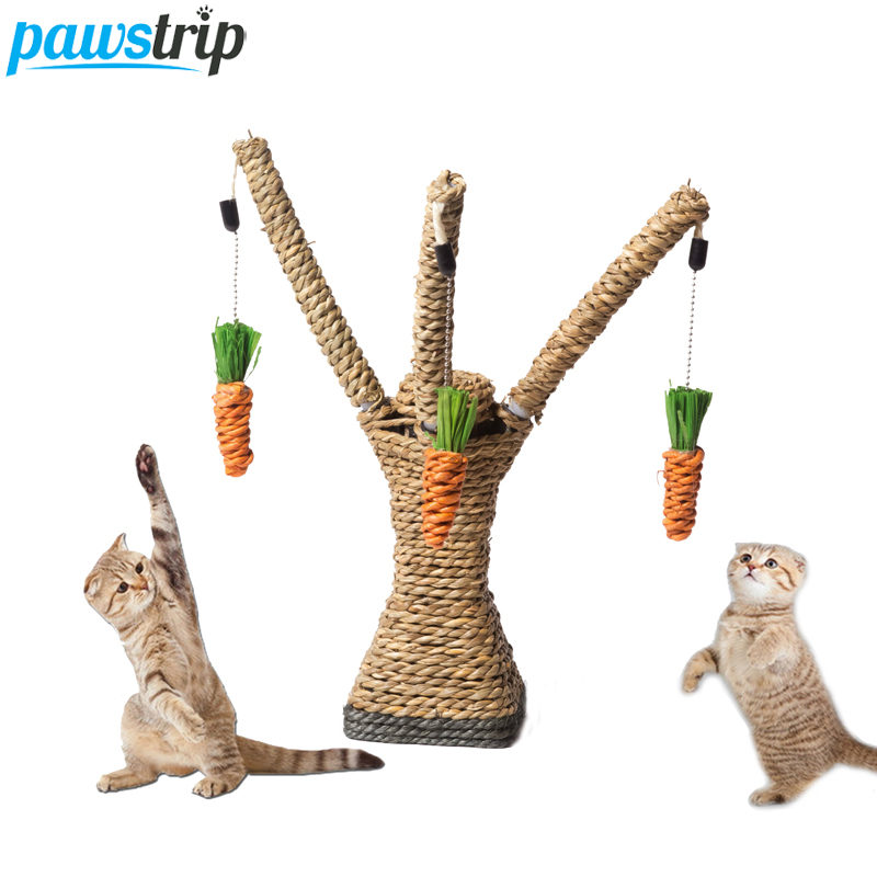 Hanging Carrot Funny Playing Cat Toys 27cm Height Cat Scratching Post Tree