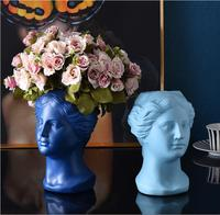 Nordic ceramic vase creative face art vase decoration home decoration crafts countertop vase simple dried flower decorative vase