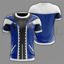 Men and Women Streetwear Blue T-shirt Kingdom Hearts 3d Print T shirt Hooded Jacket for Boys Harajuku Sweatshirt Cosplay