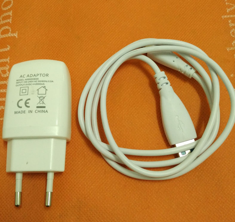 Original Travel Plug Charger + USB Cable for Blackview BV5000 MTK6735 Quad Core 5.0 HD 1280x720 Free shipping