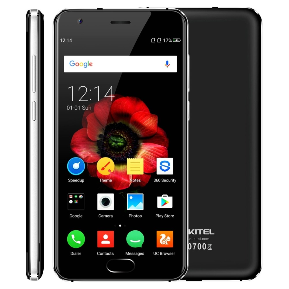 Oukitel K4000 Plus 4G Mobile Téléphone 5.0 Pouce HD MTK6737 Quad Core Android 6.0 2 GB RAM 16 GB ROM D'empreintes Digitales ID Double Sim Smartphone
