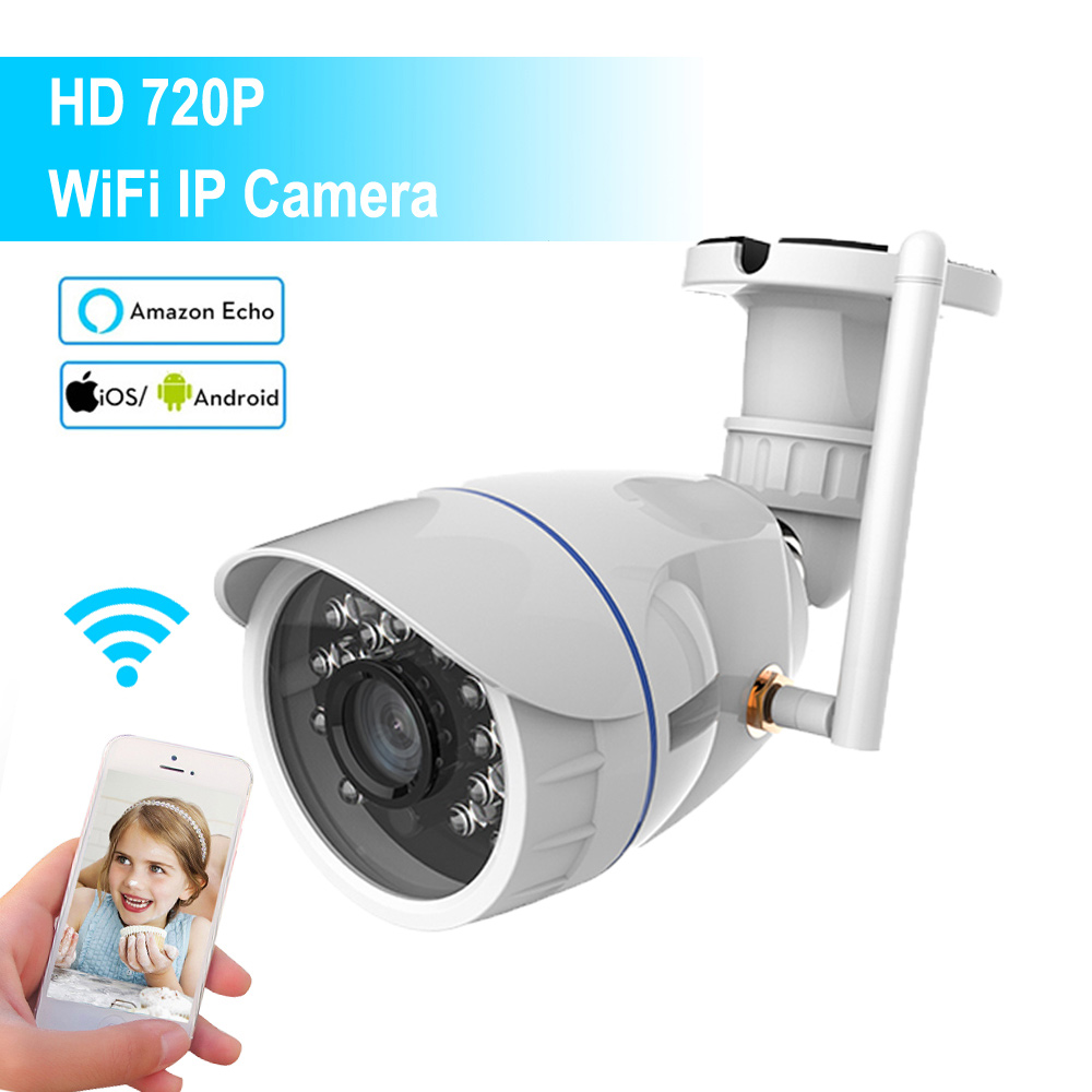 Mini 720P Wireless Wi-Fi IP Camera Outdoor Waterproof 1.0MP HD CCTV Security Camera Support Alexa Echo Tuya Smart LifeMini 720P Wireless Wi-Fi IP Camera Outdoor Waterproof 1.0MP HD CCTV Security Camera Support Alexa Echo Tuya Smart Life