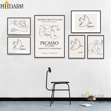 Matisse Picasso Retro Fashion Modern Line Sketch Posters and Prints Wall Art Canvas Pictures for Home Decor Living Room