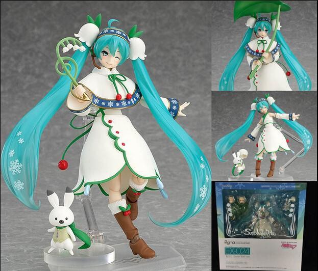 Hatsune Miku Figma 024 Snow Miku Snow Bell ver. PVC Action Figure Collectible Model Toy lamp housing for sanyo 610 3252957 6103252957 projector dlp lcd bulb