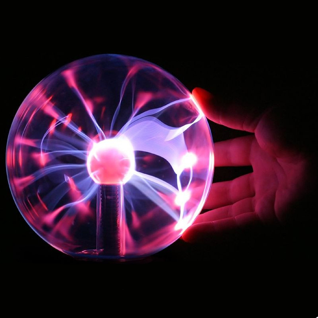 US $25 98  Novelty Magic Music Voice touch Control USB/Car Bola Plasma Ball  Lamp Neon Sphere Negative Ion Generator Light Lightning-in Novelty