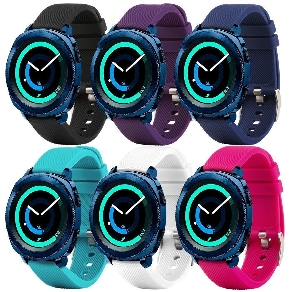 Silicone Leather Strap Wrist Band for Samsung Gear Sport S4//Garmin Vivoactive3