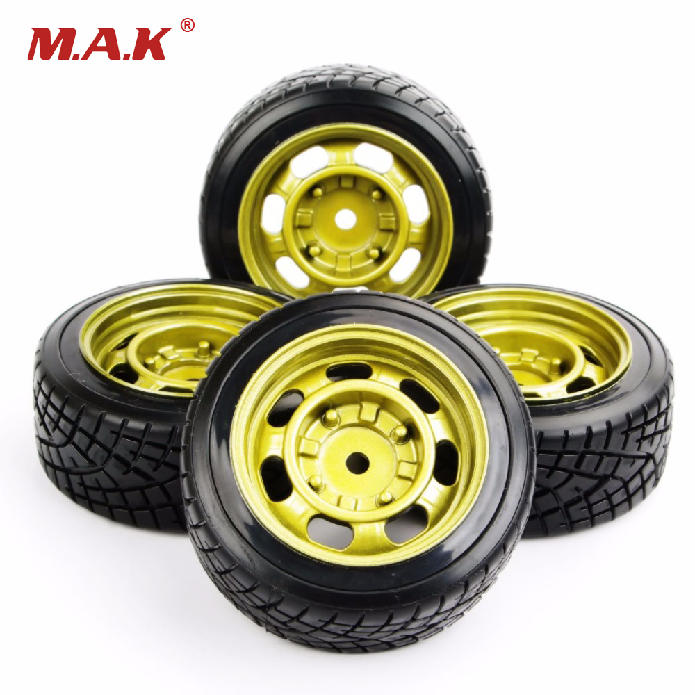 RC Drift Tires Wheel Rim Model Toys For HSP HPI 1/10 On-Road Car Model Accessory PP0290+PP0147 4pcs/set universal replacement plastic tire w wheel rim hub for 1 10 on road model cars black 4pcs