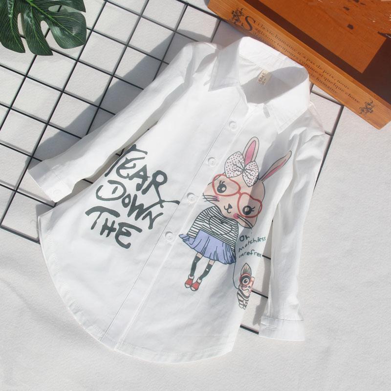 010b0fe09 Blusas blancas uniformes escolares para niños pequeños dibujos ...