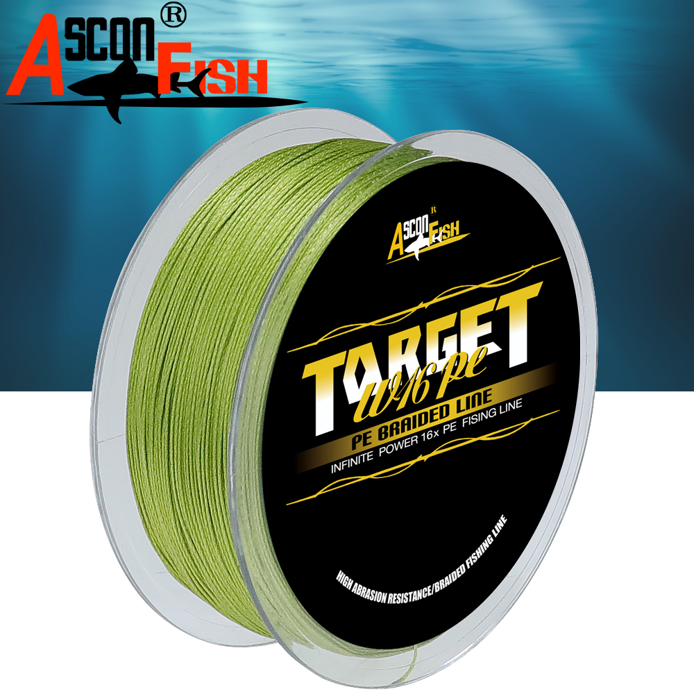 Image 2 - Ascon Fish 16 Strands Braided Fishing Line 300m for Cord Fishing Capr 16 Braids Multifilament Line20 500LB Green-in Fishing Lines from Sports & Entertainment