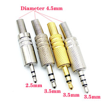 5pcs/lot Replacement 2.5 3.5mm 3 Pole Male Repair Headphones Audio Jack Plug Connector Soldering For Most Earphone Adapter