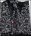 New arrival free shipping 4pcs tuxedo floral waistcoat