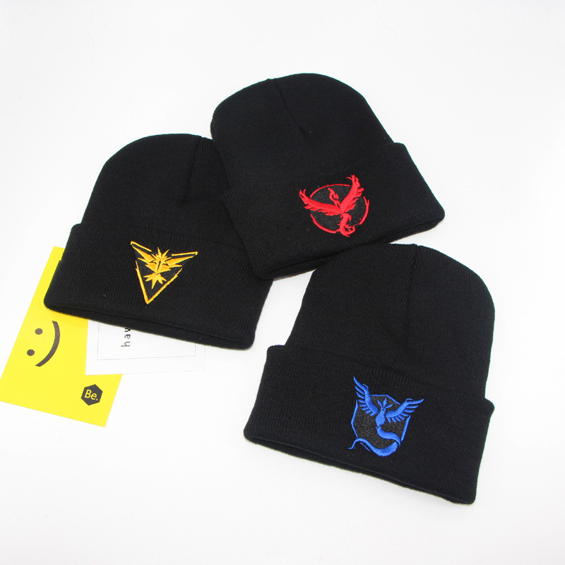 Women Mens Knitted Cap pokemon go Hat Pokemon pet hip-hop Beanie Cap Autumn Winter  Running hat 9 Types 14fd0362768