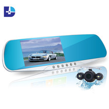 Hot Sale 4.3inch Car Camera Mirror Full HD 1080P Car Rearview Mirror Camera Video Recorder Car DVR 2 Camera Parking Night Vision