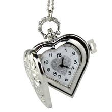 Irisshine i0856 унисекс пару часов подарок люблю винтажные стимпанк СЕРДЦЕ Гарри Поттер медальон Стиль подвеска карманные часы Цепочки и ожерелья