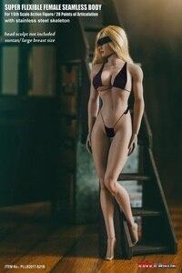 Image 4 - تبلو 1/6 امرأة تمثال الجسم شاحب Suntan الجلد سلس نموذج لجسم الإناث مجموعات لمدة 12 بوصة عمل الشكل