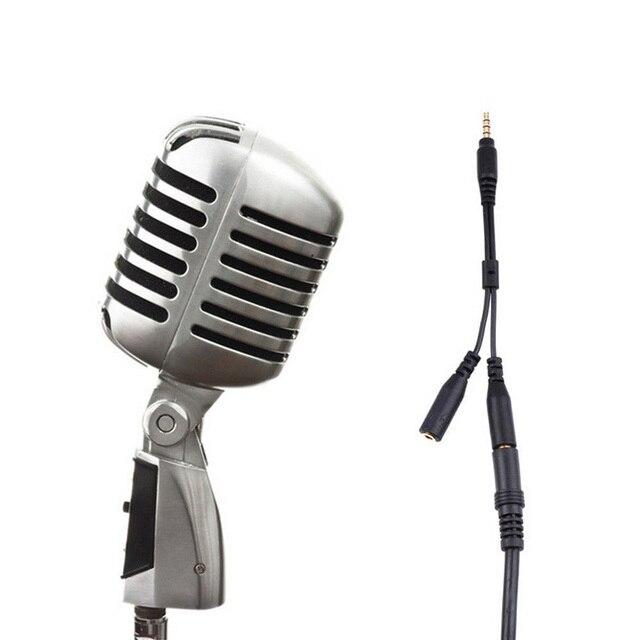 3,5mm Stereo Audio Stecker auf 2 Weibliche Headset Mic TRRS Y Splitter Kabel Adapter Mikrofon 3,5mm zu 2 3,5mm Jack Splitter Adapter