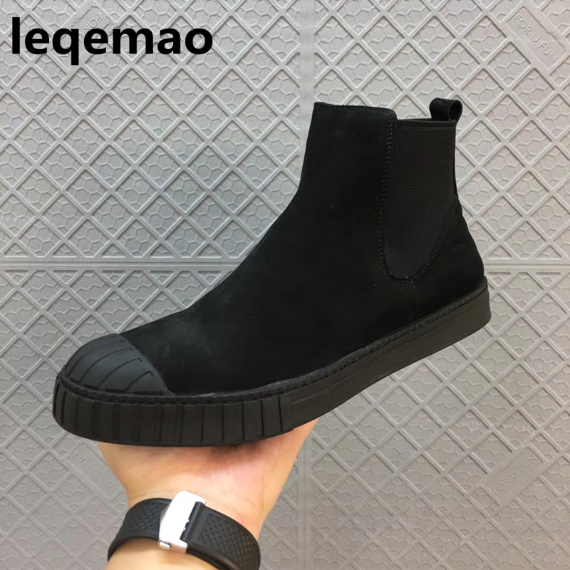 Winter Men Boots New Arrival Shoes Basic High-TOP Ankle  Nubuck Leather Owen Luxury Trainers Men Boots Casual Flats Snow Shoes gram epos men casual shoes top quality men high top shoes fashion breathable hip hop shoes men red black white chaussure hommre