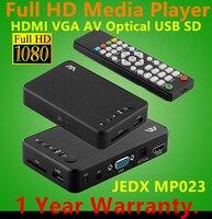 MP023 عالية الجودة 3d usb كامل hd 1080 وعاء hdd ميديا بلاير hdmi vga av hdmi av usb المضيف mkv h.264 avi وهدايا شحن مجاني