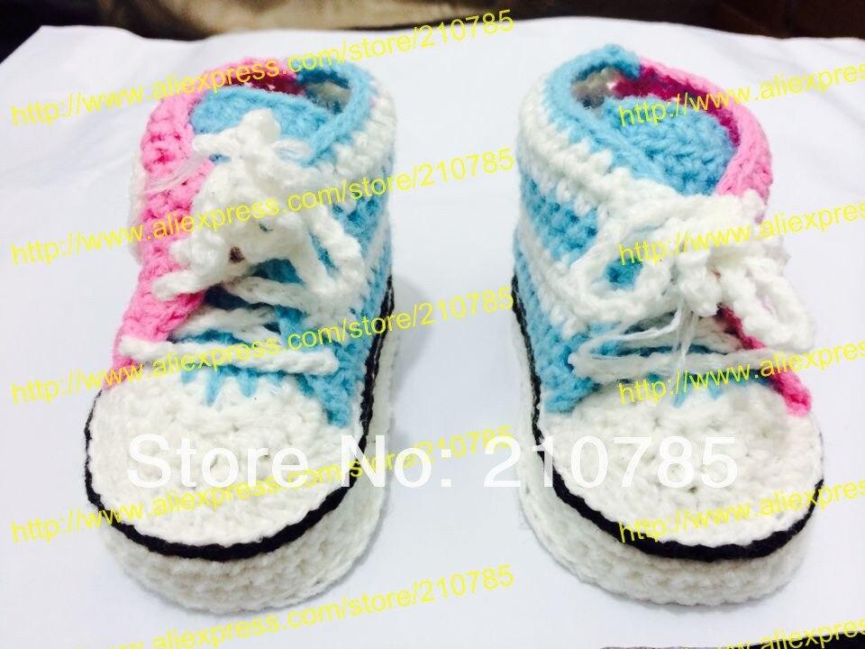 Envío libre, bebé del ganchillo hecho a mano los zapatos deportivos ...