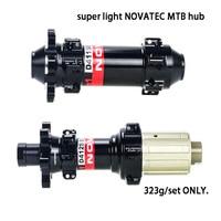 323g Novatec D411 D412SB SIX bolt MTB bike hub light standard quick release/thru axle front 100*15mm,142*12mm 9/10/11s 24/28/32H