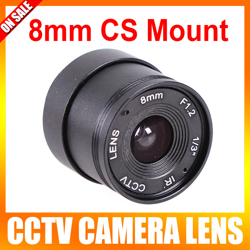 New Arrival Hot Sale Wholesale 10 Pieces/lot F1.2 8mm 1/3 Cs Mount Fixed Ir Cctv Camera Lens 10 pieces lot wholesale price brazilian