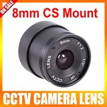 New Arrival Hot Sale Wholesale 10 Pieces/lot F1.2 8mm 1/3″ Cs Mount Fixed Ir Cctv Camera Lens
