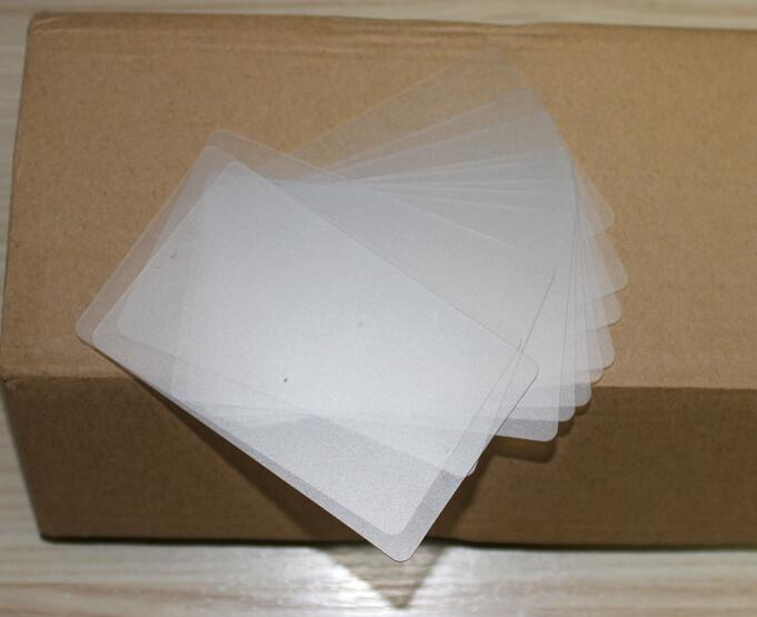 MIRUI 0.32mm Thickness Small Translucent Light Matt PVC Sheet Plain Blank Business Card 85*53mm
