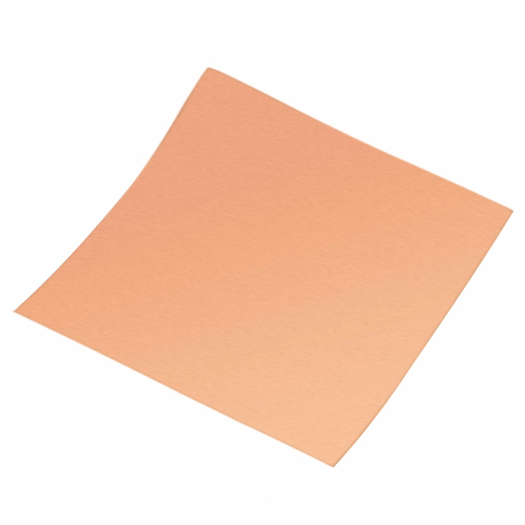 1pc  100x100mm Copper Cu Sheet Thin Metal Foil Roll 0.1mm Thickness High Purity For Welding And Brazing