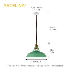 Image 3 - 2 Pieces Pendant light,Modern pendant lamp,multiple colour luminary,Loft hanging lamp,knob Switches,E27 base,for home&store
