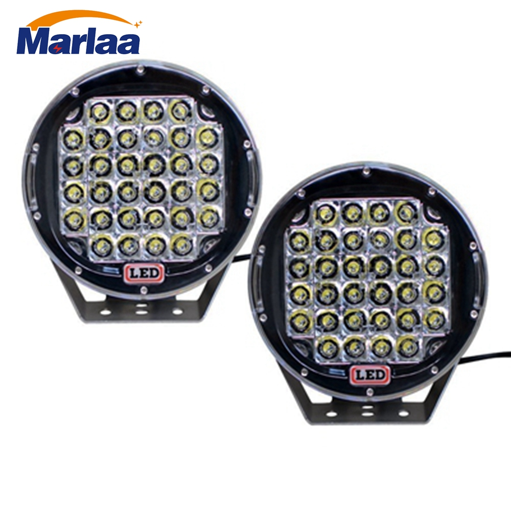 цена на 2pcs 9 inch 96W Round LED Work Light Spot Flood beam For 4x4 Offroad Truck Tractor ATV SUV Driving Lamp