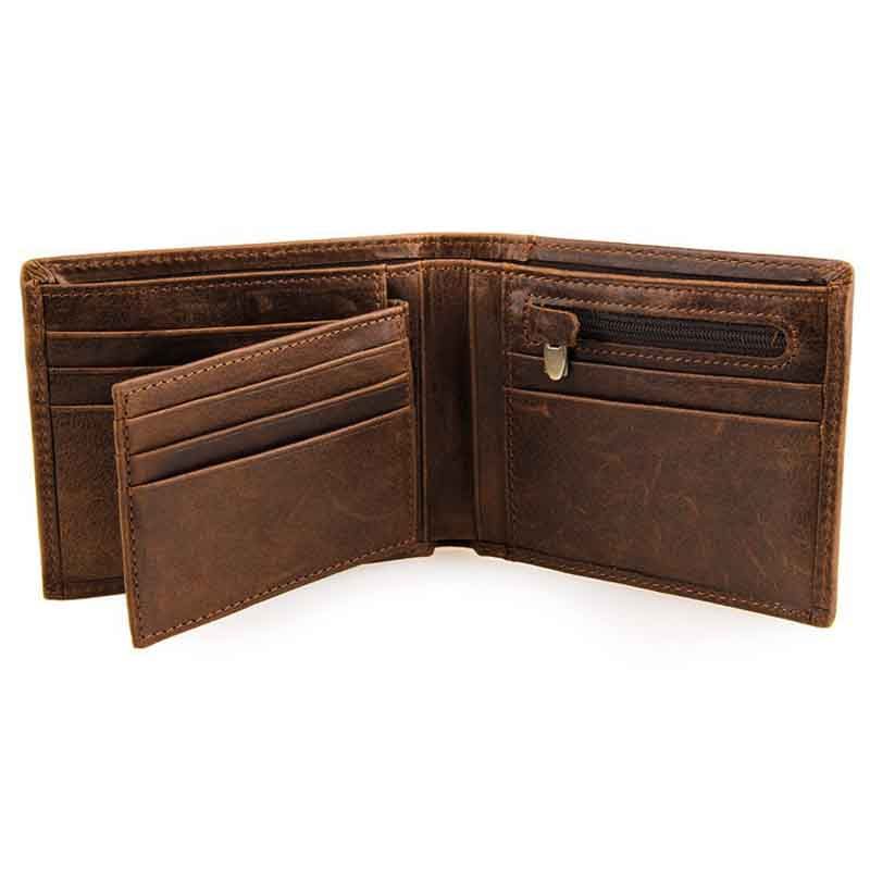 Toraway Wallet Men Business Leather Bifold Wallets Card Holder Wallet Purse Black