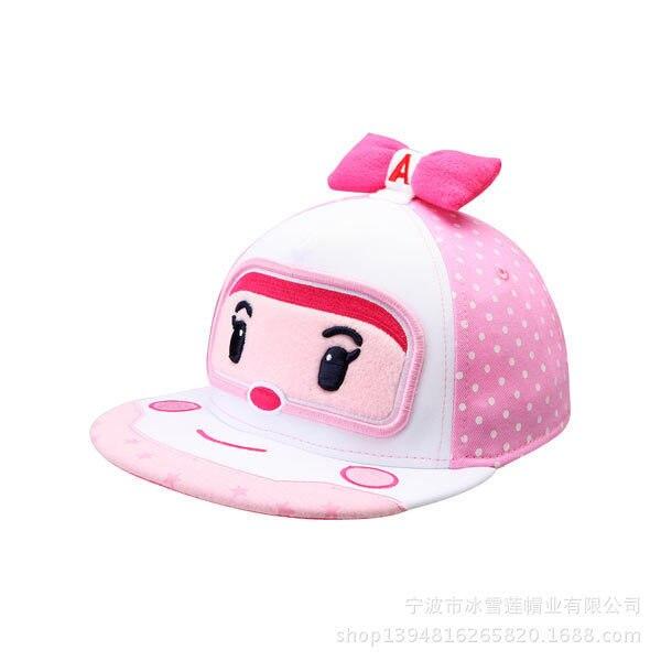 Robocar Poli (Non-Deformation) Baby Baseball Cap Children Hats Lovely Summer Hat Kids 100%cotton Caps