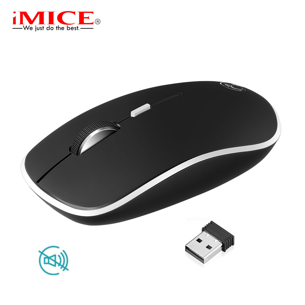 bad1bfbda1a Silent Wireless Mouse Mute PC Mice USB 2.4G Ergonomic Mice Noiseless Button  Optical Computer Mouse For Laptop Office Use Mause