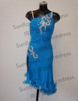 Latin Dance Dress Ballroom Dress Rumba Jive Chacha Ballroom Latin Dance Dress Girls Women
