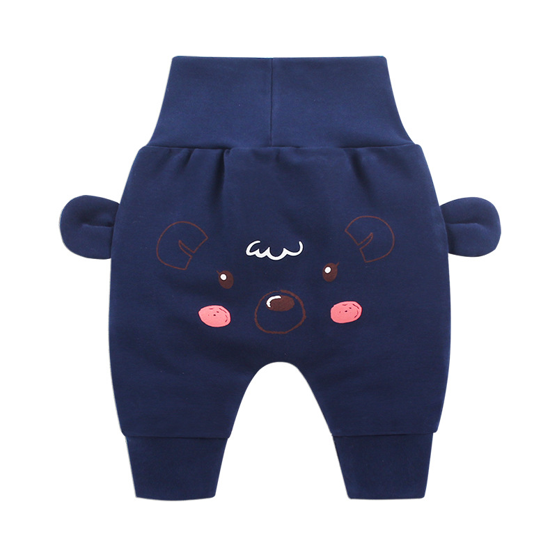 Baby Wear Baby Boys Girls Cartoon Pants Infant Baby Autumn Pp Pants Cartoon Print Bottoms(China)