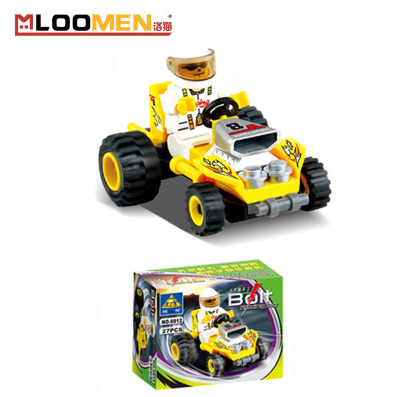 kids birthday gifts27pcsset diy small particles building blocks racing car