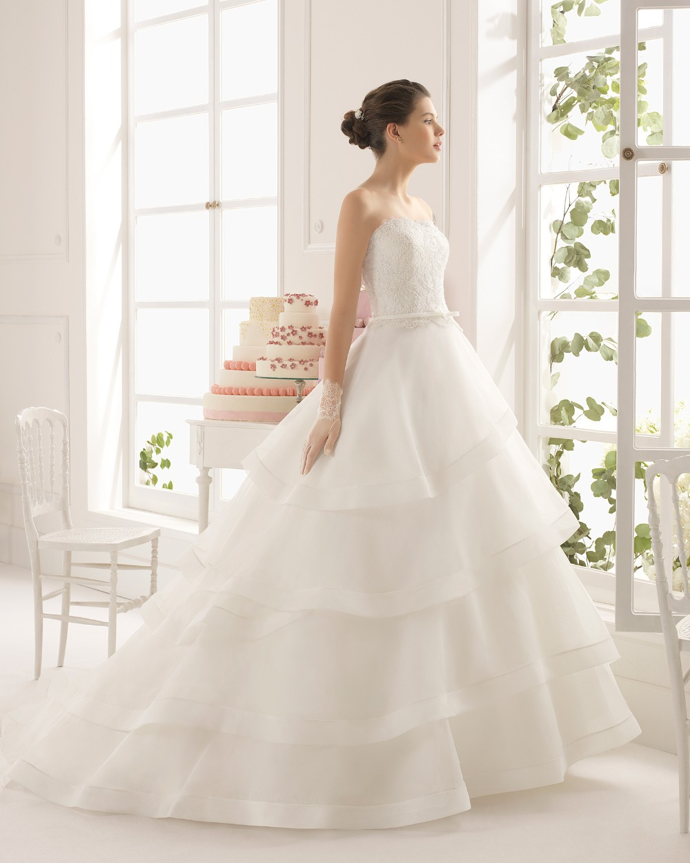 New Model 2015 Wedding Dress Ball Gown Beading Lace Patterns Organza Layered Skirt Dresses In Dubai From Weddings