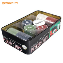 New Hot High quality Casino chips Texas Poker 100 game tokens plastic poker 1 / 5 10 25 four par  qenueson