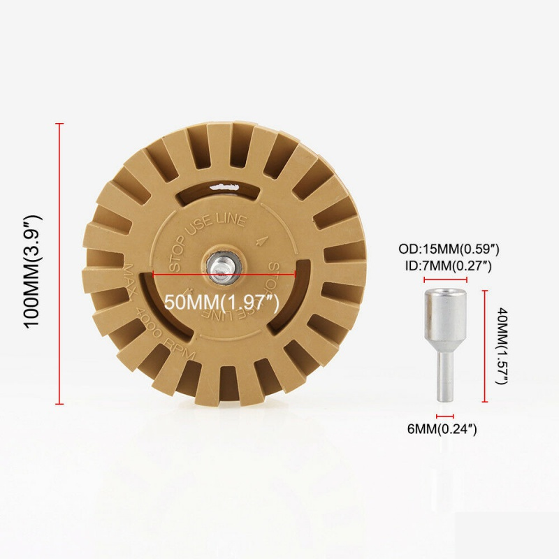 Image 4 - 4 Inch Rubber Eraser Wheel Graphics Removal Tool Strip Off Wheels  Pinstripe Double Sided Adhesive Vinyl Decal-in Car Washer from Automobiles & Motorcycles