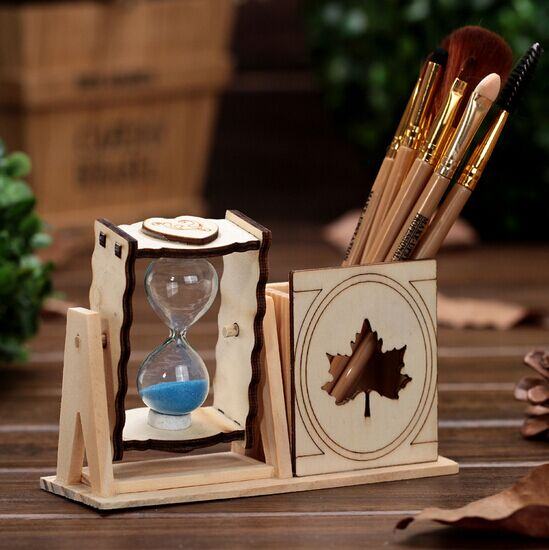 Home Accessories Gifts Wooden Handicrafts Hourglass Ornaments