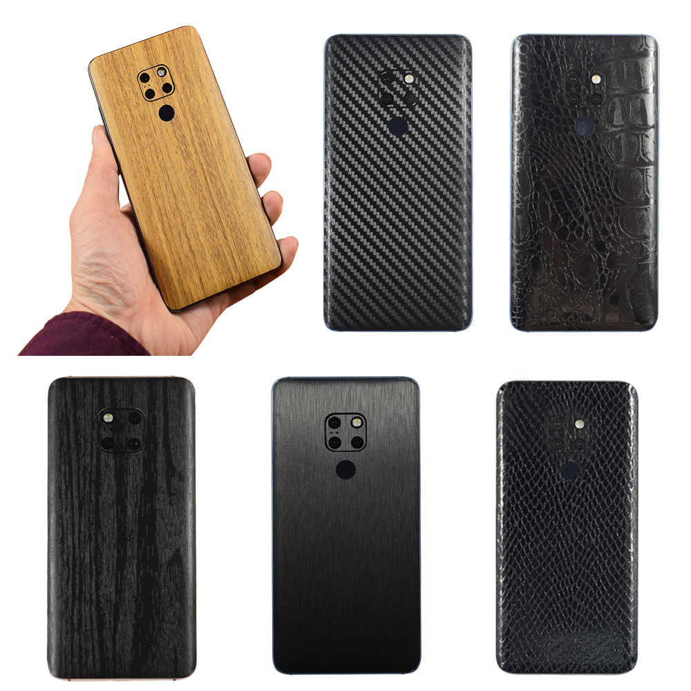 3D Carbon Fiber/Drawing/Wood Skins Phone Back Cover Sticker For HUAWEI P30 Pro P30 Lite MATE 20 Mate 20X Mate 20 Pro /20 Lite