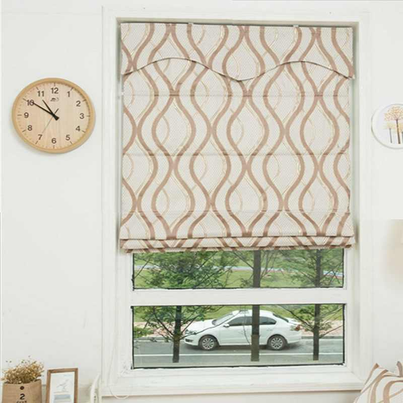Luxary Window Blackout linen Roman Blinds Curtain (S) Customize Size  RM15