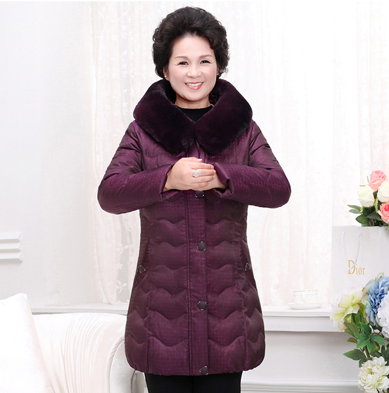 2017 Elderly women down  women winter thick white duck warm jacket in the long section skinnwille 2017 new products down jacket in winter more female in long white duck down even the chinstrap collars winter