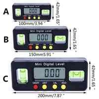 Magnetic electronic digital level level horizontal angle 100mm 150mm 200mm