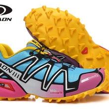 new style 22a76 7bafb Salomon velocidad Cruz 3 CS luz zapatillas para caminar al aire libre  zapatos de jogging mujeres